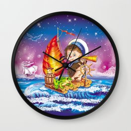 Brave sailor Wall Clock