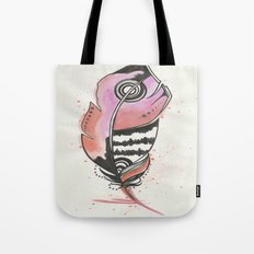 Pink and Orange Feather Tote Bag
