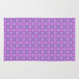 Violet Geometrical Pattern Rug