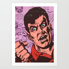 Anger in Two Dimensions Art Print