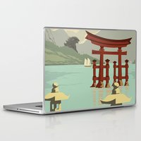 kaiju Laptop & iPad Skins featuring Kaiju Travel Poster by Duke Dastardly