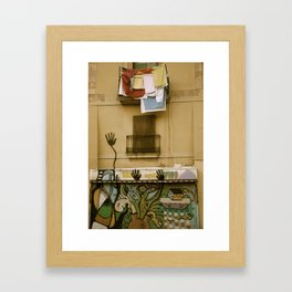 Barcelona Graffiti Framed Art Print