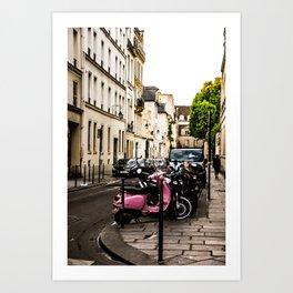 Pink Scooter Art Print