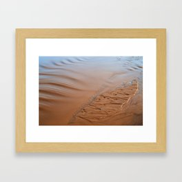 Sand Islet Framed Art Print