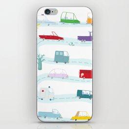 Cute Cars Print iPhone Skin