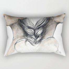 Twins sisters soulmates Rectangular Pillow