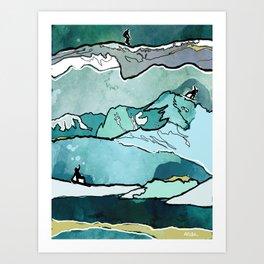Snowboarding sessions Art Print