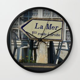 La Mer Roadsign  Wall Clock