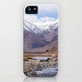 Tibet typical mountain landscape iPhone Case