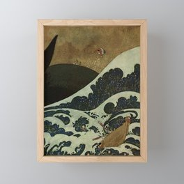 """""""Shipwreck from Sinbad the Sailor"""" by Edmund Dulac Framed Mini Art Print"""
