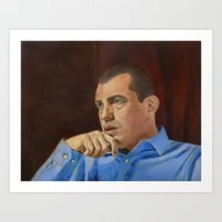 andreas preis Art Prints featuring Andreas Antonopoulos by The Colors of Bitcoin: Bitcoin Art