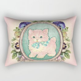 Kitschy Pink Kitten Rectangular Pillow