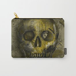 skull gold art decor Carry-All Pouch