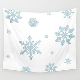 Glitter Snowflakes Wall Tapestry