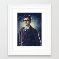 david tennant Framed Art Prints featuring David Tennant - Doctor Who 2 by KanaHyde
