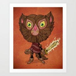Adventure Cat Art Print
