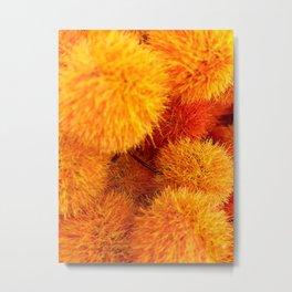 Orange Flowers and Plants Metal Print