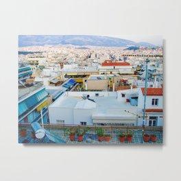 Rooftops, Athens Metal Print