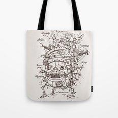 Howl's Moving Castle Plan Tote Bag