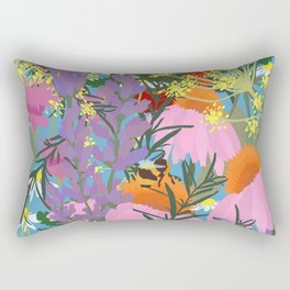 Aromatherapy for the Bees in Sky Blue Rectangular Pillow