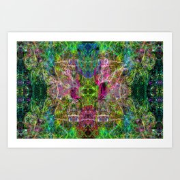 The Sultan's Subordinate (abstract, psychedelic) Art Print