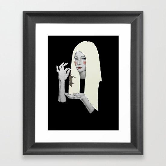 Vana in black Framed Art Print