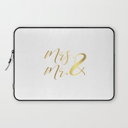 Mr Mrs Love Prints. Wedding Art Prints. Real Gold or Silver Foil Print. His and Hers Wall Art. Laptop Sleeve