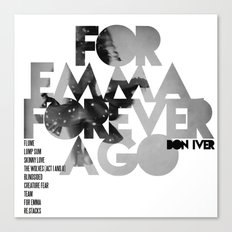 For Emma, Forever Ago - Bon Iver / Cover Art LP Canvas Print