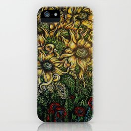 The Flowers Behind the Barn iPhone Case