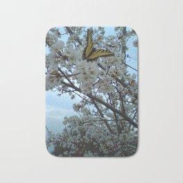 Butterfly on Cherry Tree Bath Mat