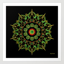 Mandala Reggae en la noche Art Print