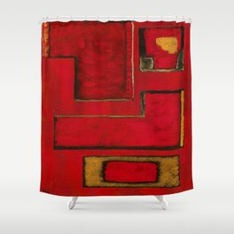 Detached, Abstract Shapes Art Shower Curtain