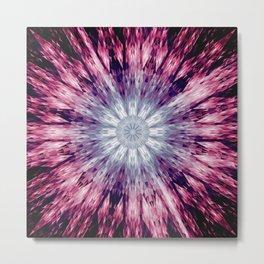 Magenta Pink Purple Mandala Metal Print