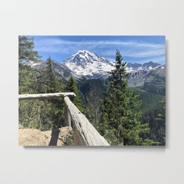 Mount Rainier Lookout Metal Print