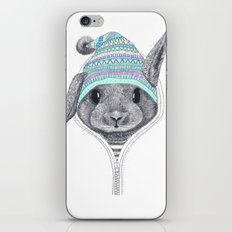 The rabbit in a hood iPhone Skin
