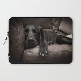 Black Labrador Asleep Laptop Sleeve