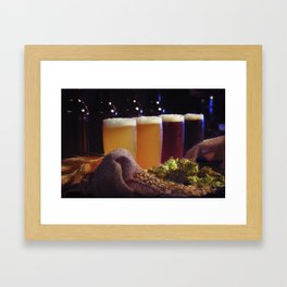 Beer Tasting 101 home brew Framed Art Print