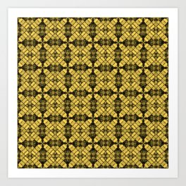 Primrose Yellow Quilt Art Print
