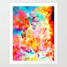 Colorful Abstract Nebula Art Print