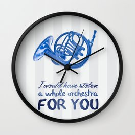blue french horn / himym Wall Clock