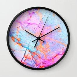 Graffiti Candy Marble Pattern Wall Clock