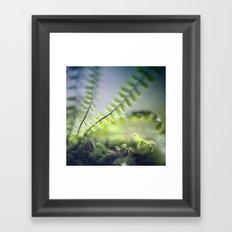 little green Framed Art Print