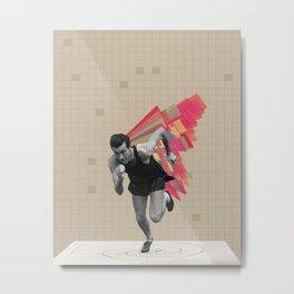 Running Man Metal Print