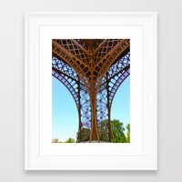 eiffel Framed Art Prints featuring Eiffel by Camille Renee