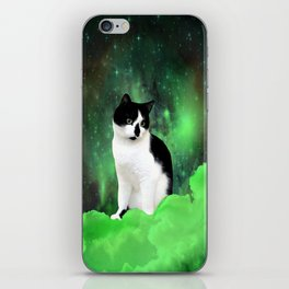 Gypsy Da Fleuky Cat and the Kitty Emerald Night iPhone Skin