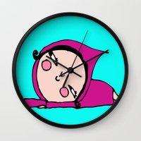 lolita Wall Clocks featuring Lolita by Alfonnew Shop