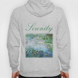 1906 Waterlily on Canvas.  Claude Monet . Vintage fine art. Hoody