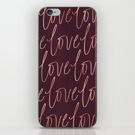 Burgandy Love iPhone Skin