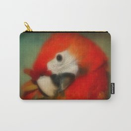 Red Scarlet Macaw Parrot Carry-All Pouch