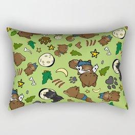 Baby Werewolf Green Rectangular Pillow
